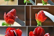 ozdoby zo zeleniny a ovocia