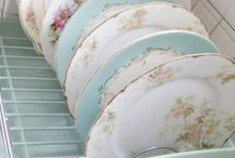 Antique china and glass