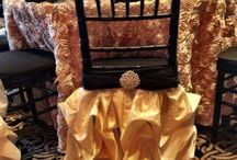 pretty chair covers   / by Rosielloons