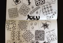 Mindful Creative with Tangles Daily Challenge