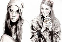 Fashion illustration - faces