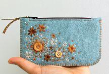 peněženky z plsti