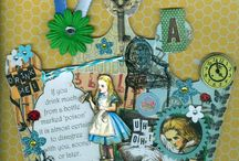 Cute scrapbook of Alice in wonderland