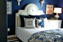 Camere da letto blu