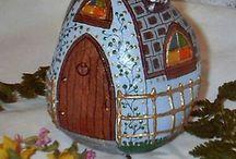 Painted Stone & Seashell   (Taş & Deniz kabuğu boyama)