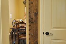 Wall height ruler