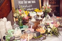 Sweets tables weddings / Candy bars, cookies and cakes for wedding receptions