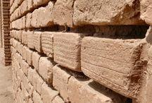 Elamite artifacts / Guennol lioness - Elamite goddess Inanna Ishtar - Elamite brick
