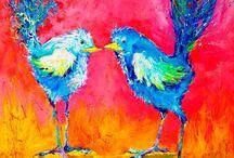 Bright Tropical Art