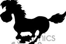 siluety koně