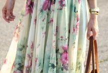 Clothes / Silky skirt