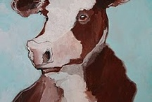 Cows in art
