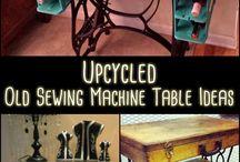 Vintage sewing machine bases