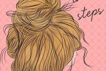 Hair / włosy, fryzury, upięcia