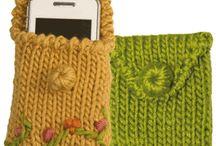 I love knitting ...Eu amo tricô...