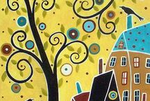 ev ve ağaç motifleri