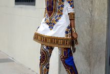 African print two pieces