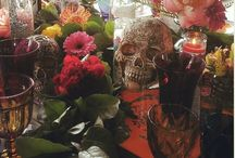 """""""Till Death do us part"""" Theme Wedding @ Mission Inn / Theme Weddings, Romantic, Whimsy, Fun and Super Colorful, Sugar Skulls, Over the top decor"""