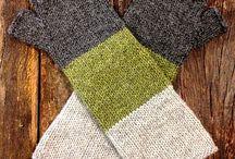 Вязание - варежки, митенки