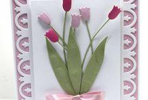 Kartki z kwiatami