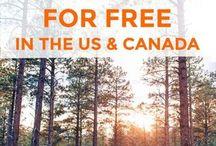 camping free USA and canada