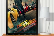 """Need for Speed / It's all about the movie """"Need for Speed"""". including wall painting poster, throw pillow, car toy, backpacks, t-shirts, etc."""