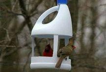 vogelhuis van fles