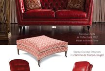 Taylor King Furniture Charlotte NC Red Hot Leather Style and More / Taylor King rekindles the flame of red in their Valentine's Day celebration of color, style and romance. Visit Good's Home Furnishings in Pineville, North Carolina and see how our designers can help you pull it all together. Charlotte NC loves Taylor King.  http://www.goodshomefurnishings.com / by Good's Home Furnishings