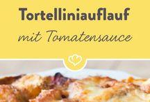 Tortellini, Spinat, Tomaten, Mozzarella...hmm! Dieser Auflauf