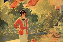 antique advertising boards and posters