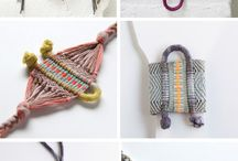 Macrame bracelets and Necklaces