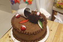 decorative B-day cakes