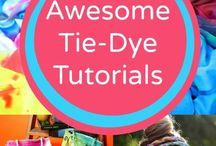 tye dye tutorials and items