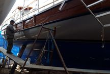 Ongoing TLC (Tender, Love'n'Care) for Cosh Gulet / Erol and crew getting her ready for May 1st. Doing a Great job!