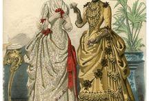 Suknie XIX wiek ryciny