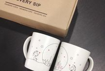 Celebrate Love with Every Sip / Sharing Love . Sharing Life . Sharing all . with Human Touch soulmates coffee mugs.