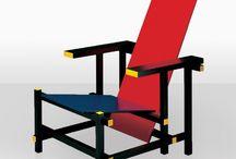 Gerrit Thomas Rietveld - La Historia del Arte del Diseño / Gerrit Thomas Rietveld, fue carpintero, diseñador, arquitecto. Hijo de ebanista aprendió el oficio en el taller de su padre.En 1918, Rietveld puso en marcha su propia fábrica de muebles, mientras estudiaba arquitectura.