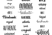 Typography / Different styles and typography