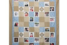 Photo Quilts / Sometimes referred to as memory, family or picture quilts, contain favorite photos of our loved ones and things.