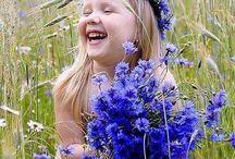 дети и цветы