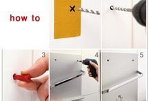 how to install towel hanger in toilet
