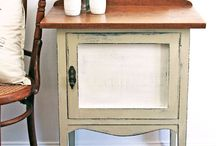 Bedside tables / Shabby chic, chalk paint