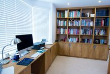 Home Office / Make the most of your space, creating a tidy and functional work area. Bespoke with different wood, drawers and handles to suit your decor and style.