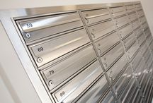 Salisbury Stainless Project / The Salisbury Stainless Project features multiple banks of high-quality brushed stainless steel mailboxes manufactured using 316L grade material.
