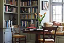 Boek interieurs / Cosy book nooks;home libraries; studies; reading in style