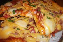 Рецепты пиццы / Подборка рецептов вкусной домашней пиццы, которую вы полюбите с первого раза!