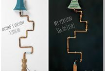 Pipes craft DIY home decor / by Vivere a Piedi Nudi Living barefoot