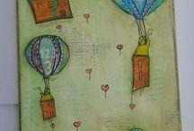 αερόστατα πάνω από την πόλη