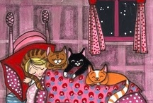 gatti in disegni buffi