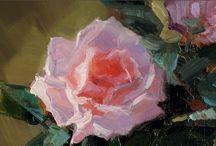 Flower paintings: Tutorial Videos